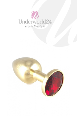 Buttplug gold with Red Crystal