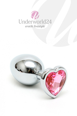 Buttplug Herzform pink